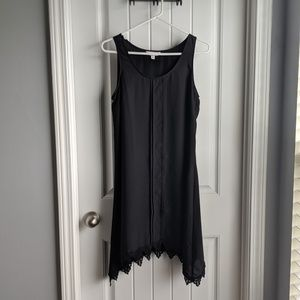 Sleeveless Little Black Shift Dress